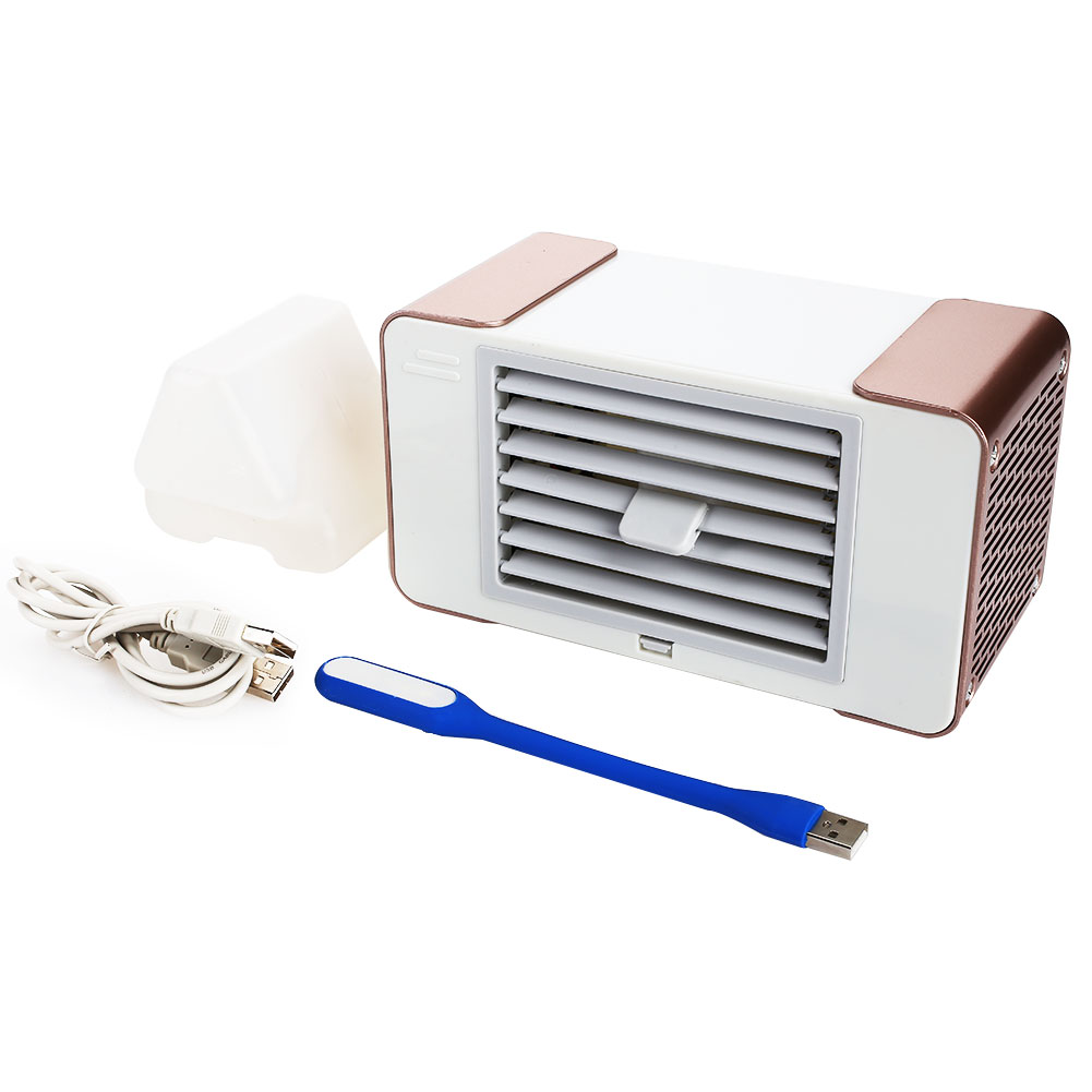 2019 New Hpt Usb Mini Portable Air Conditioner Humidifier Purifier Desktop Air Cooling Fan Air Cooler Fan For Office Home