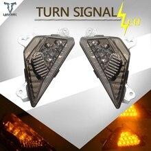 Led indicadores de señal de giro para motocicleta lámpara de luz para Kawasaki 2013 Ninja ZX 6R ZX6R 300 y 300 ABS Ninja 650 y 650 ABS 2012 2013