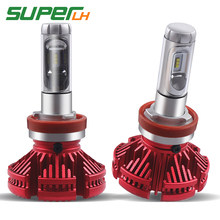 2Pcs LED H7 H4 H11 LED Car Headlight Bulb mini Lamp 9005 HB3 9006 H1 H3 ampoule ZES Chip 12V 12000lm 60W 6500K 24V Auto Fanless(China)