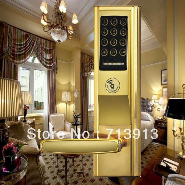 Electronic Smart home Digital  Touch Screen Password Door Lock    ET821pw Password / Mechanical Key/ Card Unlock digital electric best rfid hotel electronic door lock for flat apartment