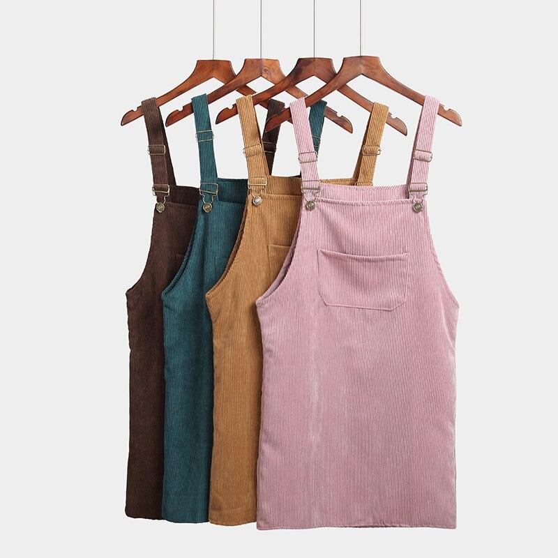 Jarní podzimní šaty dámské korejské módy vintage Sundress - Dámské oblečení