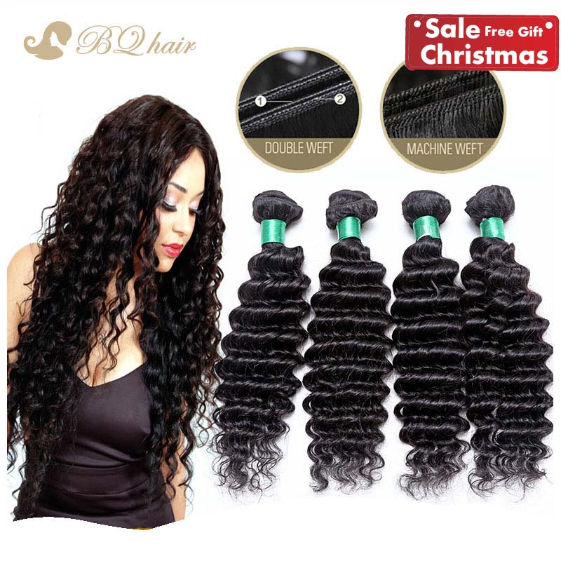Cheap 6A Malaysian Deep Wave 4pcs lot Virgin Human Hair Weaves Rosa 100 Unprocessed deep curly