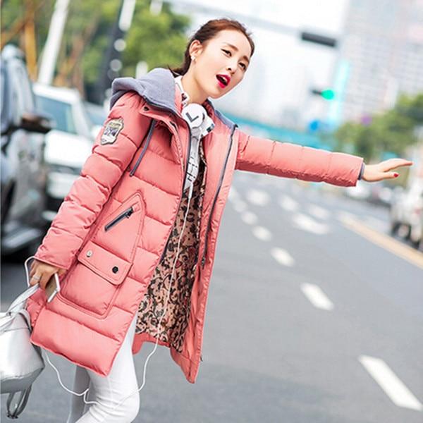 ФОТО XL-4XL, Plus size Women Coat Brand 2017 New Long Winter Jackets Thick Ladies Coats Hooded Jacket Women's Parkas Q326