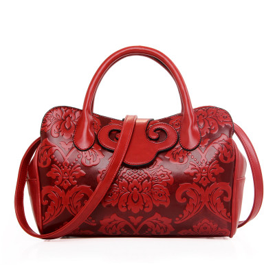 women's handbag fashion all-match japanned leather soft shoulder bag Chinese style big bag embossed casual cross-body handbag 2016 fashion spring and summer crocodile pattern japanned leather patent leather handbag one shoulder cross body bag for women
