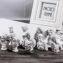 Dainayw 10 pièces croquis Avatar plâtre modèle 5 8CM résine Mini personnage pour décoration croquis pratique modèle Art peinture fournitures