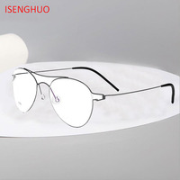 Titanium Alloy Optical Glasses Frame Men Ultralight Women Aviation Myopia Prescription Eyeglasses Korea Screwless Eyewea