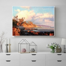 Laeacco Watercolor Seaside Wall Artwork Posters and Prints Canvas Painting Nordic Home Decoration Living Room Decor