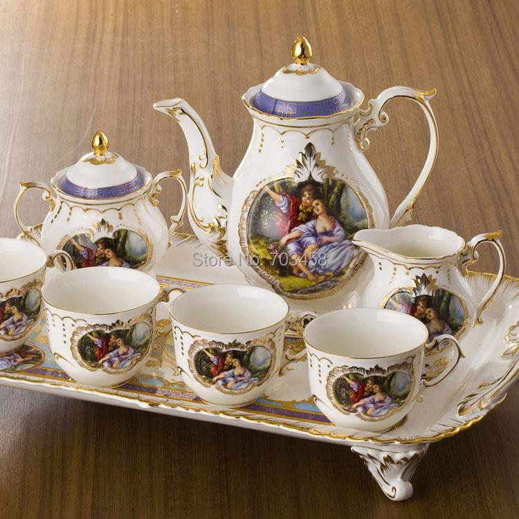 Special European style luxury Vintage ceramic Coffee set