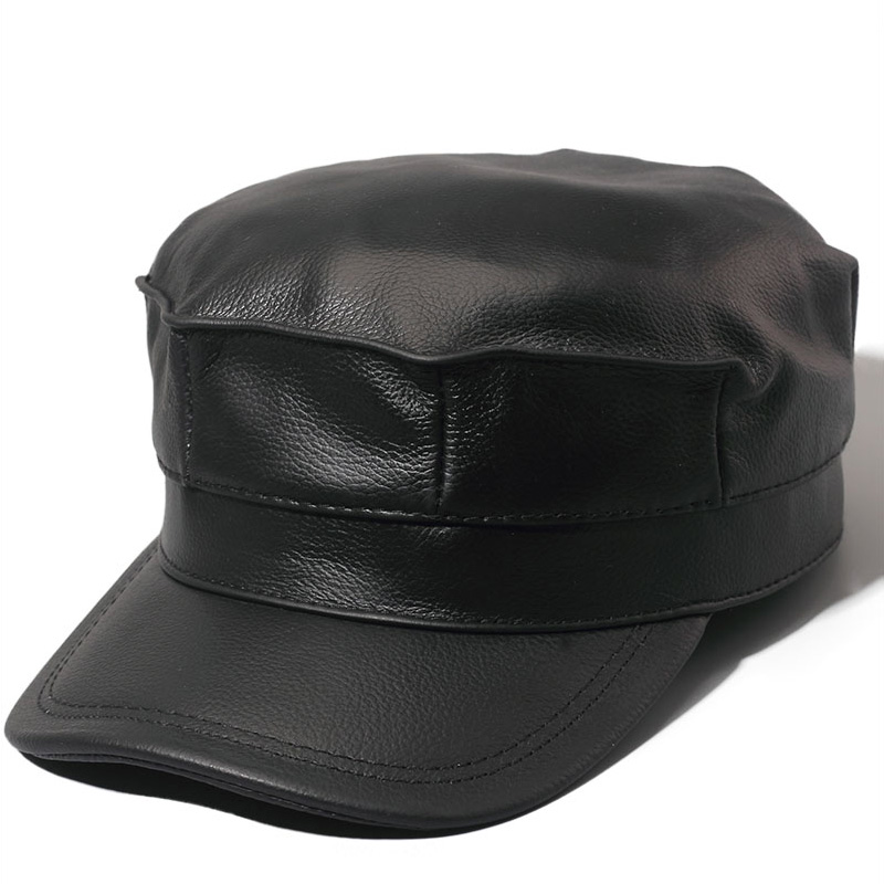 ZDFURS *genuine leather men baseball cap hat brand new men's real leather adult solid adjustable army hats/caps aorice autumn winter genuine leather men cap hat brand new baseball cap fashion men s real leather hats caps with 3 colors hl097