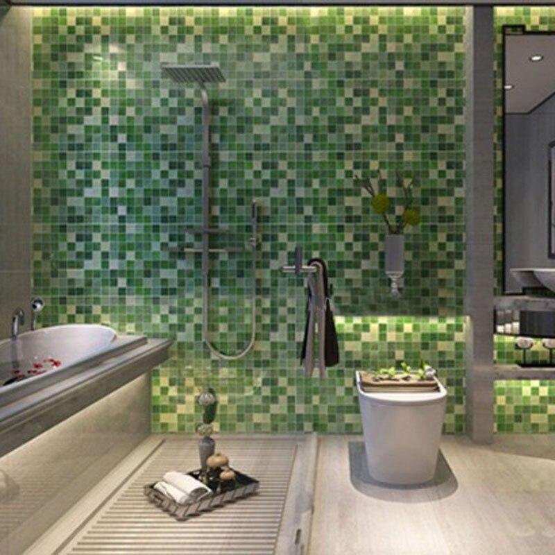 45x200cm waterproof mosaic aluminum foil self adhensive for Waterproof wallpaper for walls