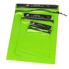 3Pcs Waterproof Bag Pouches Green Waterproof Storage Bag for Outdoor Sports Swimming Hiking Camping Travel Kits