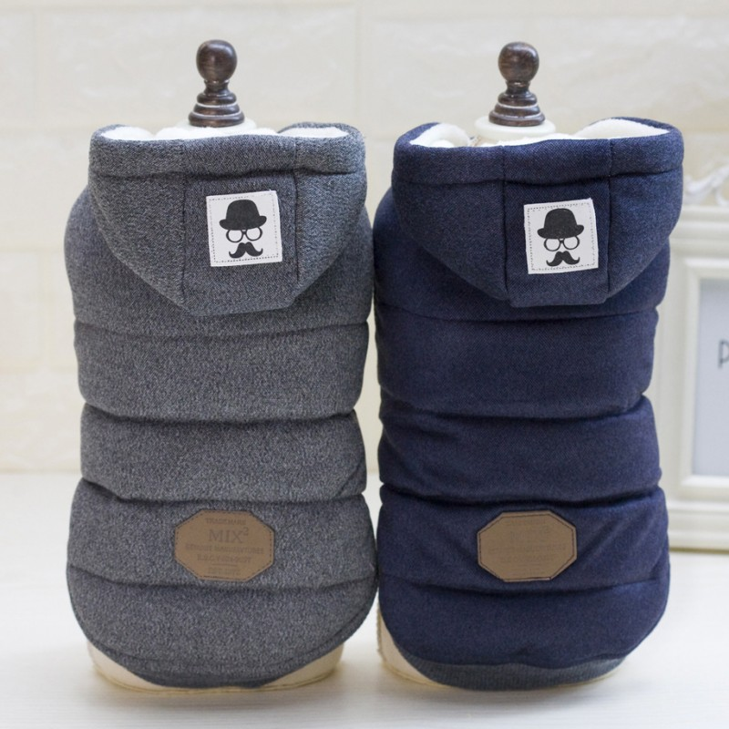 High Quality Pet Dog Clothes Winter Dog's Coat And Jackets Cotton Overcoat Dogs Clothing Thicken Costume Apparel S-XXL