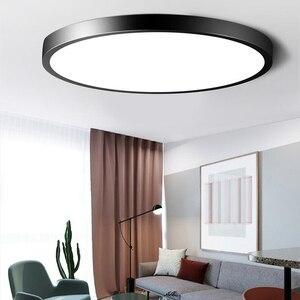Image 1 - Plafond moderne à LEDs Ultra mince imperméable allume la lampe Luminaria Plafonnier avec les principaux luminaires de couleur Dimmable Lustre Plafonnier