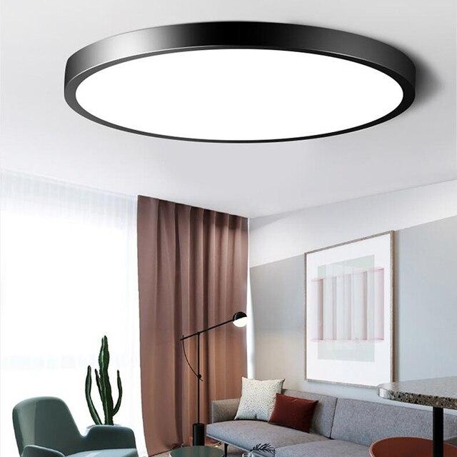 Plafond moderne à LEDs Ultra mince imperméable allume la lampe Luminaria Plafonnier avec les principaux luminaires de couleur Dimmable Lustre Plafonnier