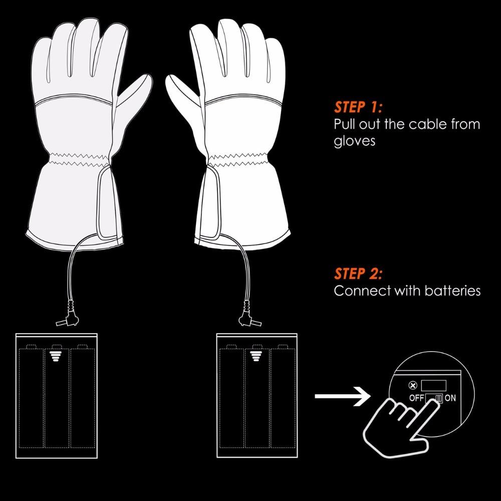 Battery Powered Waterproof Heated Gloves