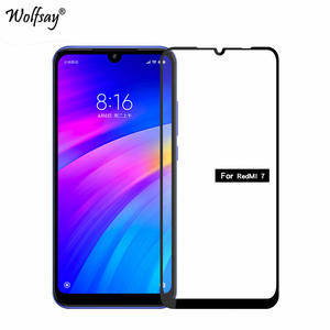 2 PCS Glue Cover Glass Xiaomi Redmi 7 Screen Protector Tempered Glass For Xiaomi