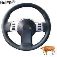 Hand Sewing Car Steering Wheel Cover Volant Top Cow Leather For Infiniti FX FX35 FX45 2003 2007 2008 For Nissan 350Z 2003 2009