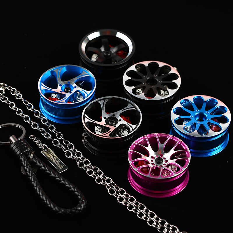 Большой обод колеса задний автомобильный вид Mirrow брелок алюминиевый 1 комплект = колесо + тормозной диск + BV кожа + кулон + цепь