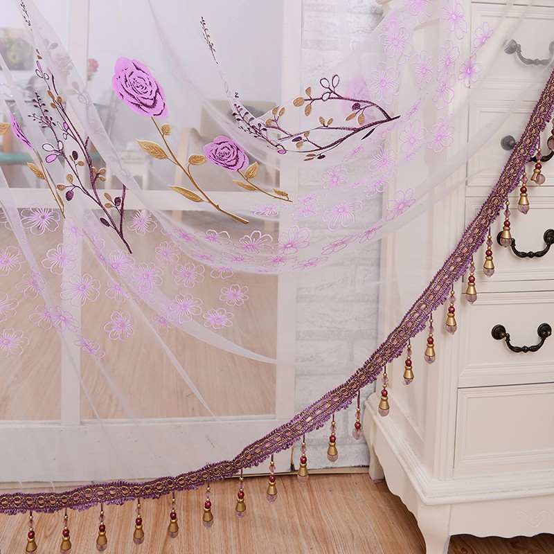 See Through Curtains see through sheer panel door sheer curtains beads tassel floral