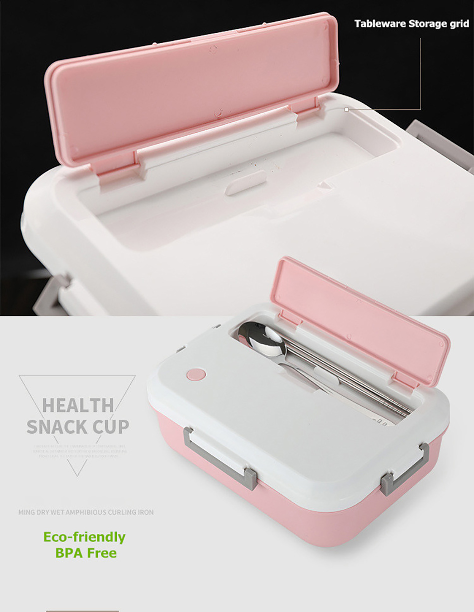 ONEUP Lunch Box BPA FREE Eco-Friendly Food Container With Tableware Microwavable Bento Box for kids adult school Office picnic 8