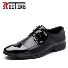 REENETE Brand 2016 New Fashion Retro Style Men Dress Shoes, Oxford Shoes For Men, Lace-Up Men Shoes, Casual Men Oxford