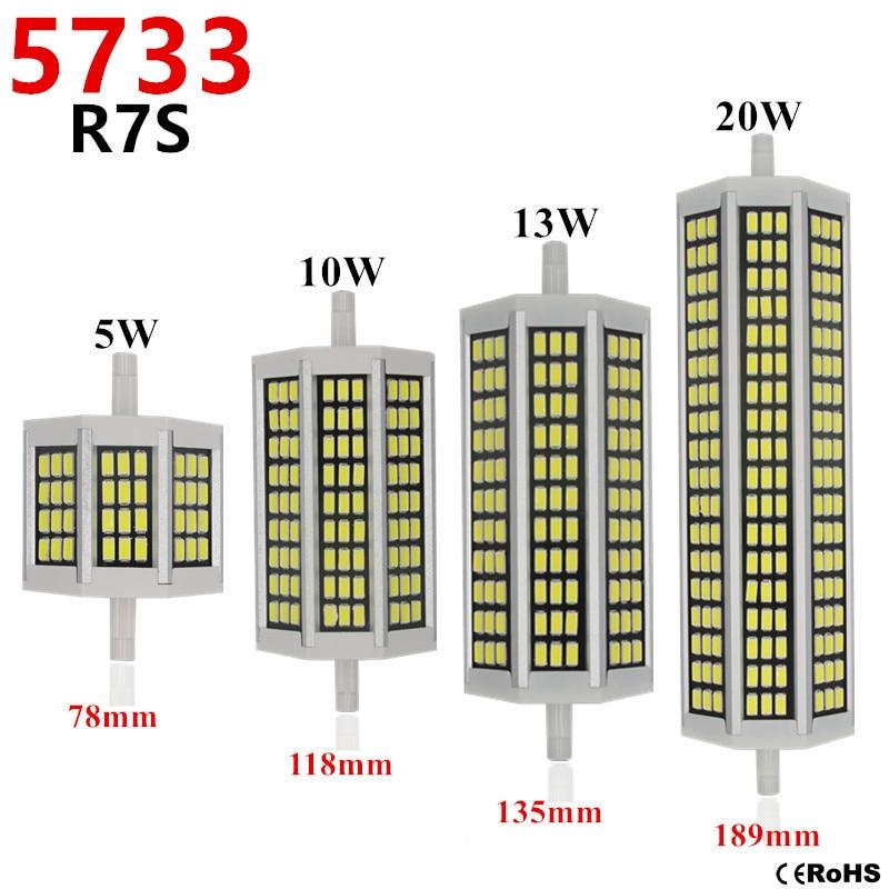 5733 r7s led 118mm 20w lampada led lamp 220v 78mm for R7s led 118mm 20w