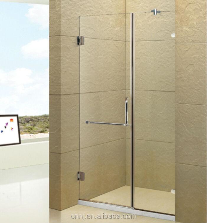 Simple glass shower door partition door without frame shower door ...
