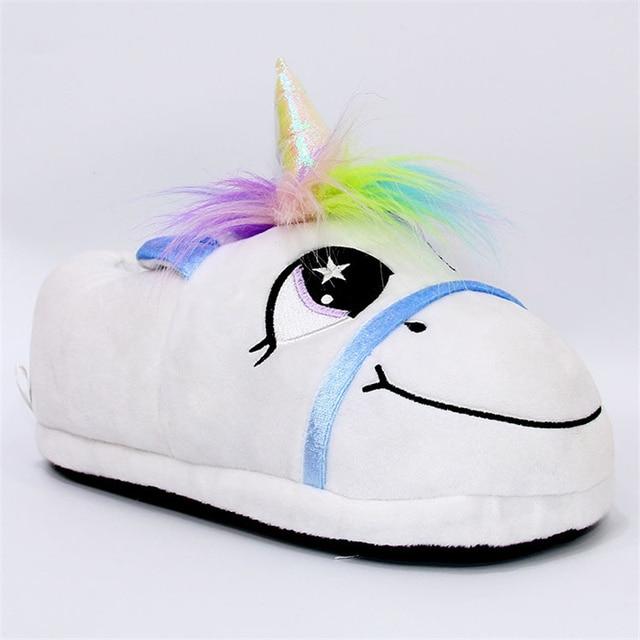 Winter Unicorn Plush Slippers