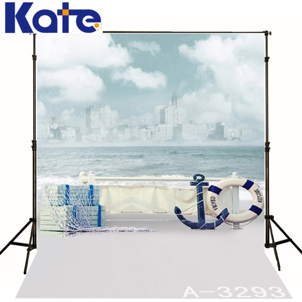 5X6.5ft Kate Photography Background Beach Waves Clouds Backdrop Photography Baby Sailboat Backgrounds Studio Photgraphy LK 1615 600cm 300cm fundo snow footprints house3d baby photography backdrop background lk 1929