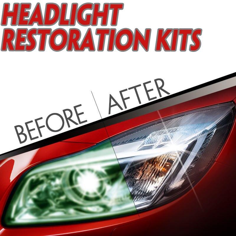 Phare Restorstion Kit Clarté Projecteur Visibilité Rayures De Réparation D'oxydation Lentille En Verre Rénovation Lumineux