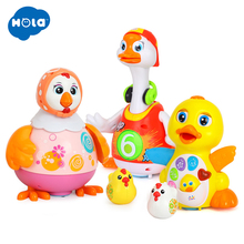 Купить с кэшбэком Baby Toys EQ Flapping Yellow Duck & Electric Hip Pop Dance Read & Tell Story & Interactive Swing Goose Toys for 18M+