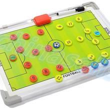 3pcs Aluminum alloy Soccer Coach Match Training Tactical Plate Coaching Board Kits magnetic teaching board Coach Board