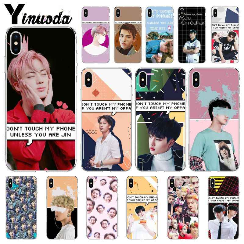 Yinuoda EXO Don t Touch My phone TPU Transparent Phone Case Cover Shell for Apple iPhone.jpg q50