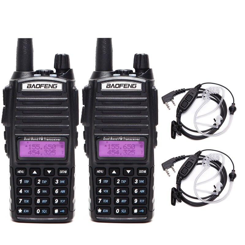 2PCS Baofeng UV 82 Plus 10KM 8W Powerful Walkie Talkie two way Radio Transceiver Amador upgrade
