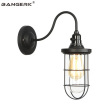 American Industrial Vintage Wall Lamp Loft Switch Iron Glass LED Edison Sconce Wall Lights Home Decor Indoor Lighting Fixtures цена
