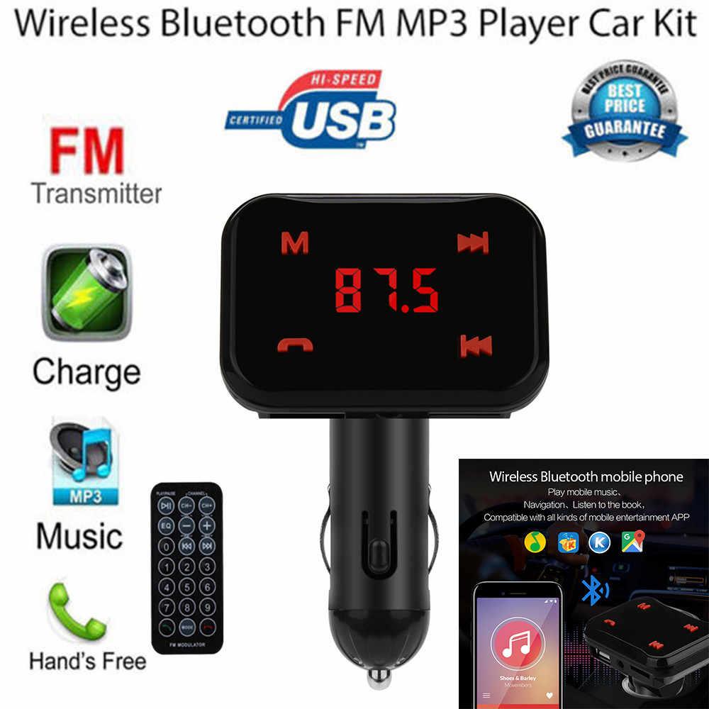 لسامسونج Glaxy S10e/S10/10 C26S بلوتوث CarFM LCD الارسال اللاسلكية MP3 TF محول للراديو شاحن يو اس بي 2019 جديد
