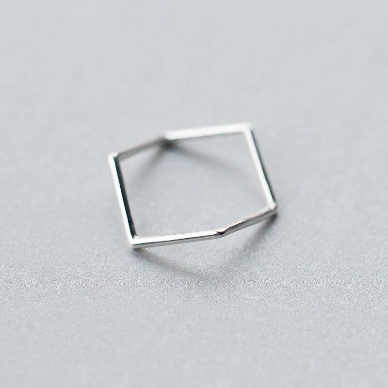 Réel. 925 En Argent Sterling JewelryGeometric Waterwave Bague Ouvrable charmes Réglables taille 4.75-size6.75 GTLJ1194