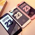 Espejo case para iphone 6 case 6 s más 5 5S 7 plus superman jordan 23 case iphone 7 casos del capítulo del silicón suave de la contraportada Coque