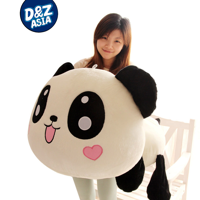 Lovely Lying down plush panda 1pcs 1# 55cm giant panda plush doll toys plush kung fu panda kung fu panda 3 a treasure hand office dolls large savings cans dragon dragon heroes model movie toys doll ornaments t57