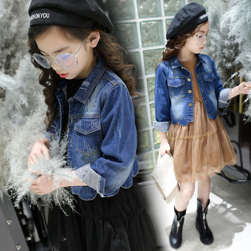 2018 New Style Spring Kids Baby Girl Clothes 2pcs Casual Girl Outfits Sets Denim Jackets + Sleeveless Dress Vetement Fille 13 14 2018 new style spring kids baby girl clothes 2pcs casual girl outfits sets denim jackets sleeveless dress vetement fille 13 14
