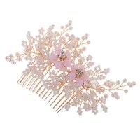 Vintage De Mariage Cristaux Floral Cheveux Peignes Grip Glisser Diadème De Mariée Accessoire