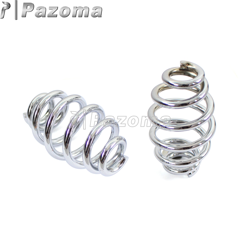 1 Pair Motorcycle Chrome Solo Seat Springs Barrel Coiled