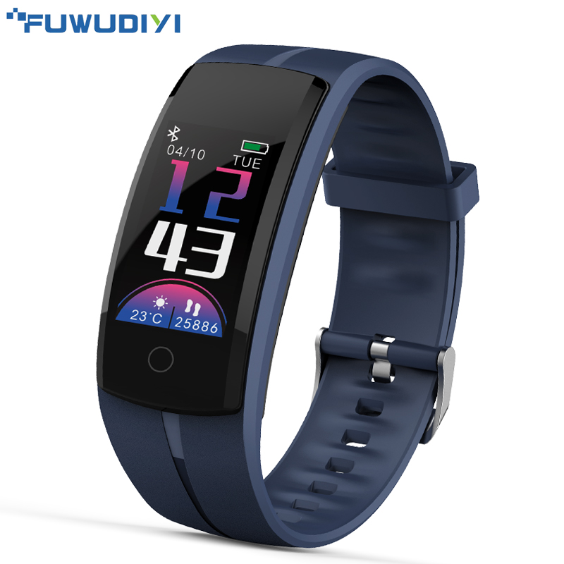 FUWUDIYI Smart Wristband Color LCD Fitness Tracker Heart Rate Blood Pressure Monitor Fitness Bracelet Waterproof Pedometer Band fashion women color screen smart band wristband heart rate blood pressure monitor fitness bracelet tracker smartband pedometer