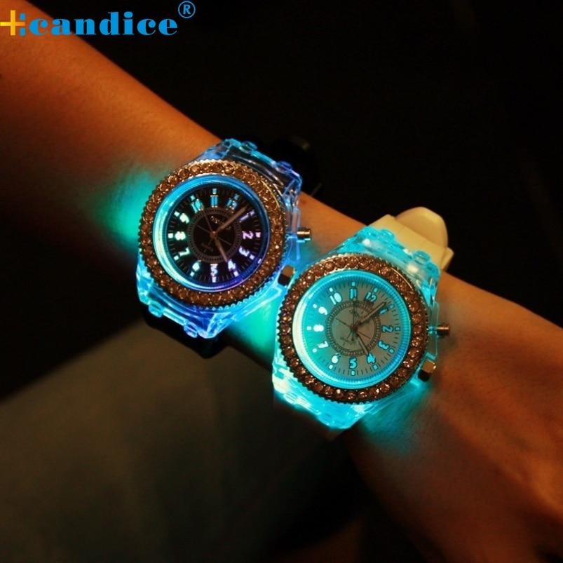 Splendid 2016 New Luxury Brand Watch Women Dress Watches Silicone Led Luminous Watch Casual Clock Hours