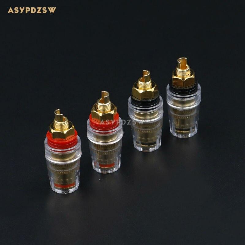 4 PCS Cristal Transparent Boucles De Cuivre-plaqué président terminal Audio  amplificateur Postes 8mm Banana jack 5d6fafc9cc28