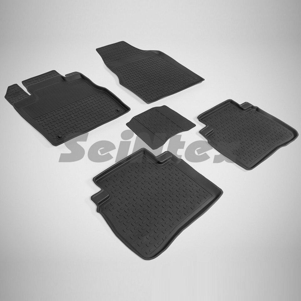 цена Rubber floor mats for Nissan Murano II Z51 (2008-2015) Seintex 86196 в интернет-магазинах