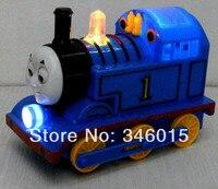 2014 juguete eléctrico universal, Thomas tren pista juguetes musicales, emisor de luz locomotora, al por menor, al por mayor, envío libre