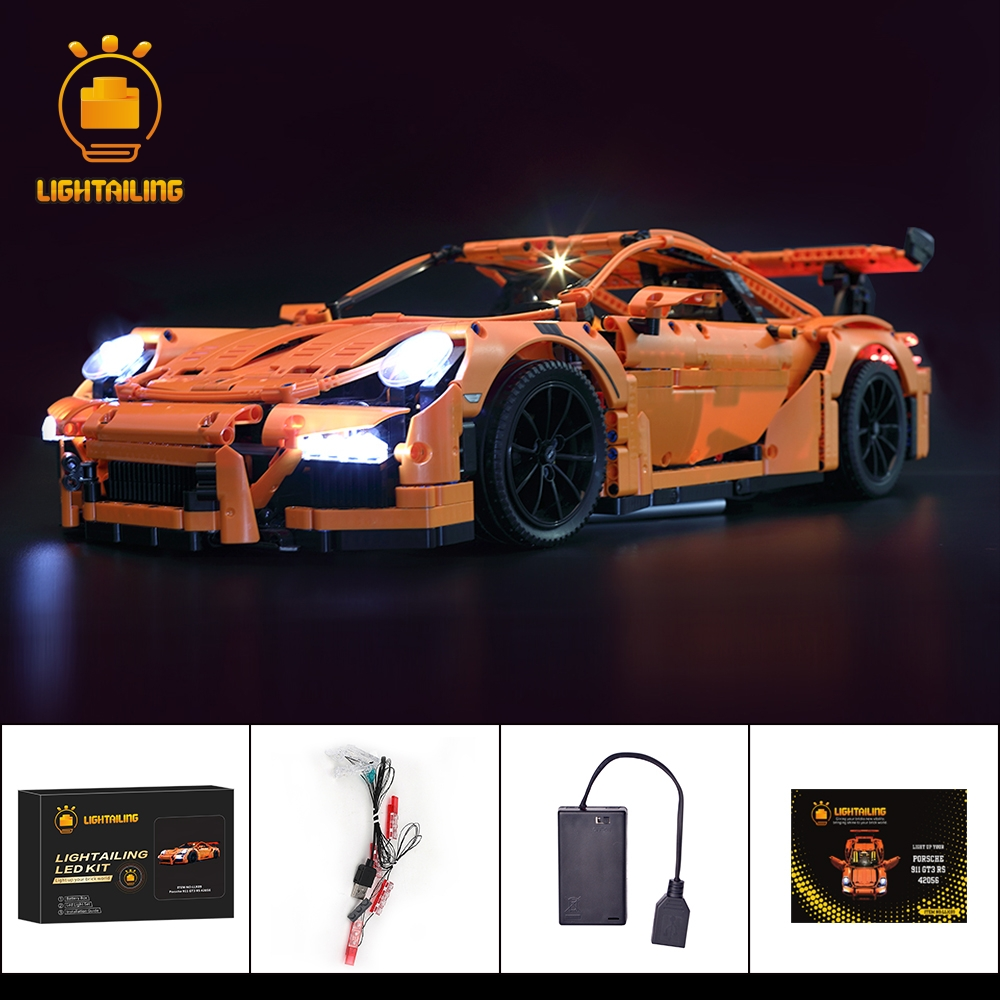 LIGHTAILING Led Lighting Kit For Technic 911 GT3 RS Race Car Light Set Compatible With 42056/20001/3368/3368B/3368C die steel feeding extrusion wheel for 3d printer black
