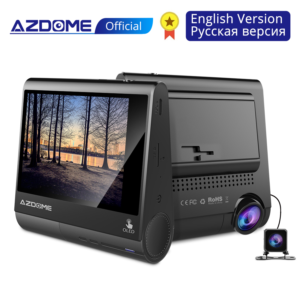 AZDOME Oled-Screen Dashboard-Camera Parking-Guard Gps-Driver Fatigue Night-Vison FHD