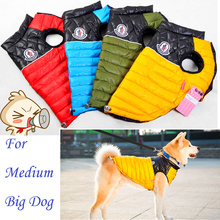 Hot Large PetBig dog Clothes Winter Warm Coat Hoodies Jumpsuit Waterproof Vest Golden retriever XXL 3XL Red Yellow Blue Green